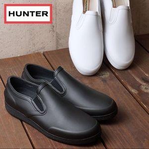 Hunter White Slip on white shoes